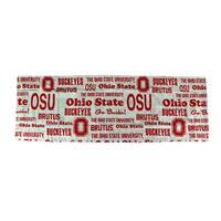 Ohio State University Buckeyes 84 X 15 Curtain Valance - Red