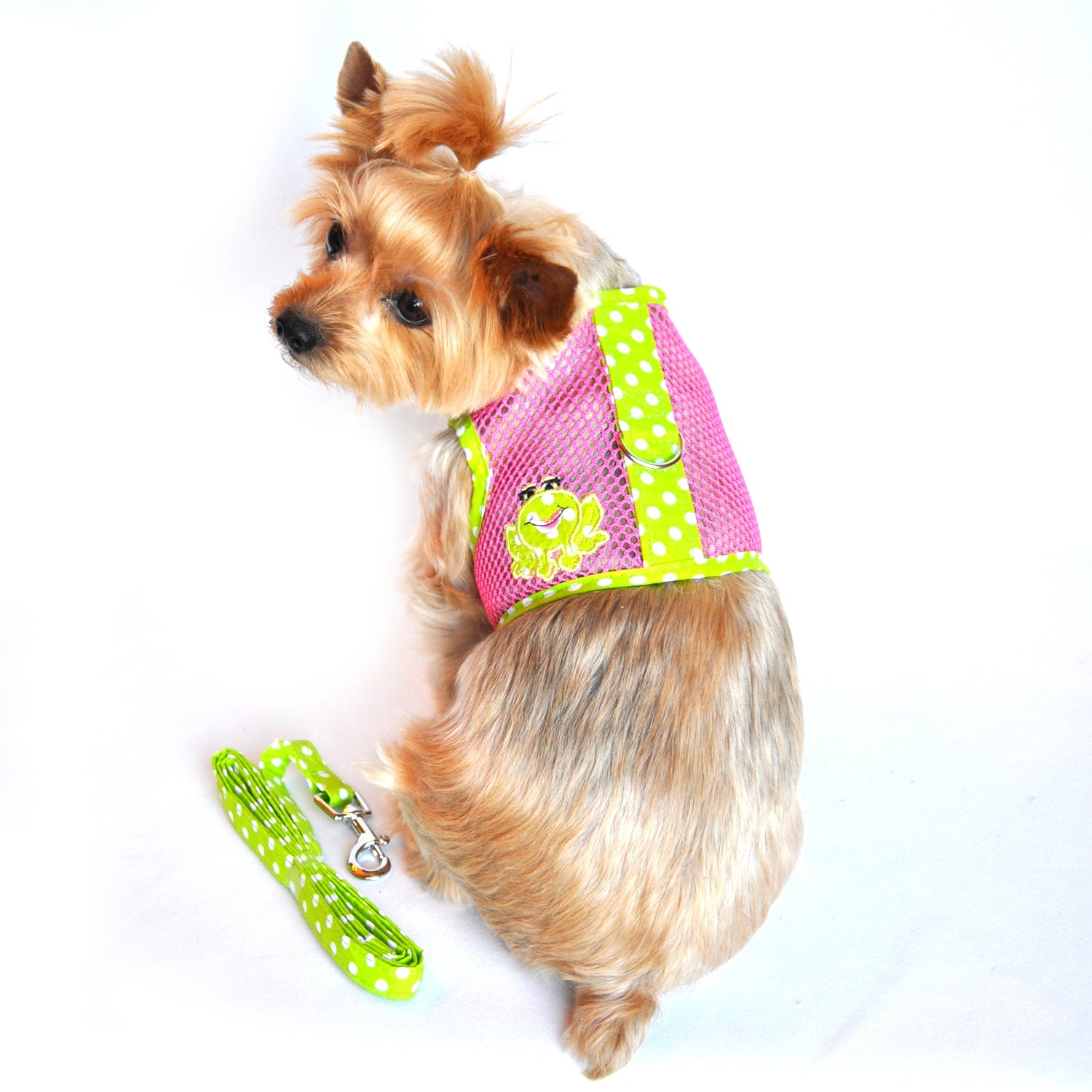 Cool Mesh Dog Harness (Green Camouflage - Large)