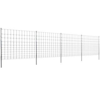 vidaXL Step-In Fence 164' with Posts Galvanized Wire 59/12/11.8