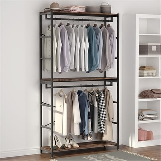 Link to Double-Rod Clothes Rack Closet Organizer System 47 inches Similar Items in Storage & Organization