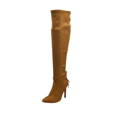 Qupid Womens Milia-111X Closed Toe Over Knee Fashion Boots