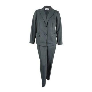 Le Suit Women's Copenhagen Peaked Pant Suit - Storm