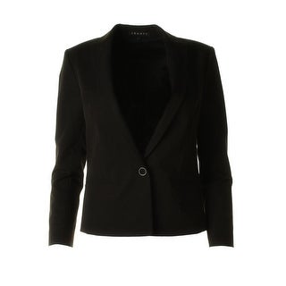 Theory Womens Cotton Blend Notch Collar One-Button Blazer - 12