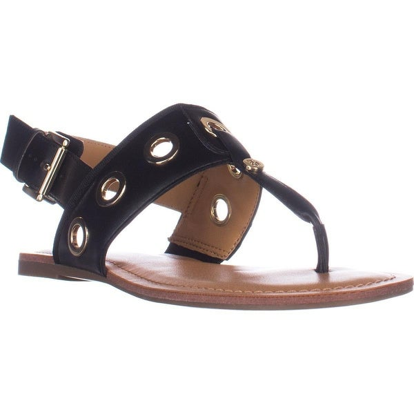 Tommy Hilfiger Lerry2 Flat Sandals, Black Multi