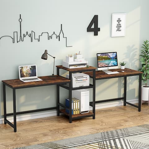 2-Person Computer Desk Home Office Desk Study Writing Table
