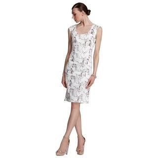Rachel Roy Skull Bird Print Cocktail Sheath Dress - Multi - 8