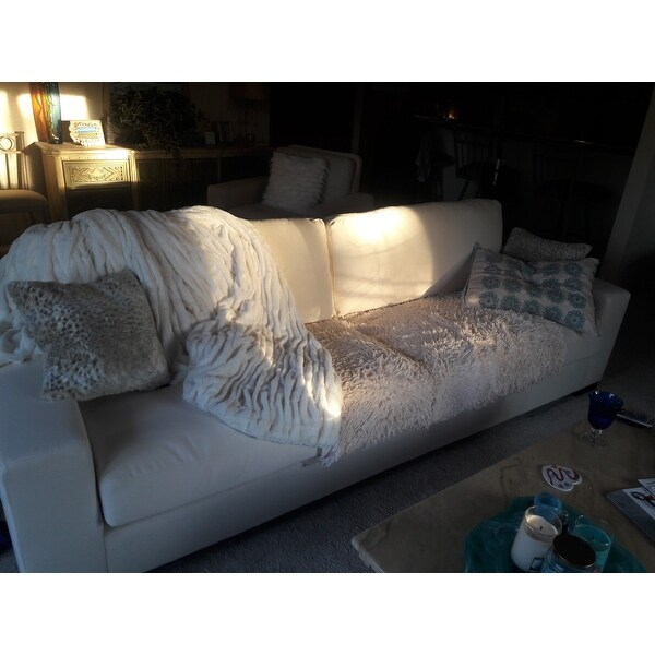 Merveilleux Shop Lionel White Cotton Down Filled Extra Long Deep Seat Sofa By INSPIRE Q  Artisan   On Sale   Free Shipping Today   Overstock.com   14046525