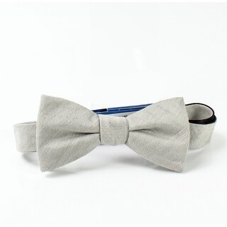 Vince Camuto NEW Silver Gray One Size Pre-Tied Textured Bow Tie
