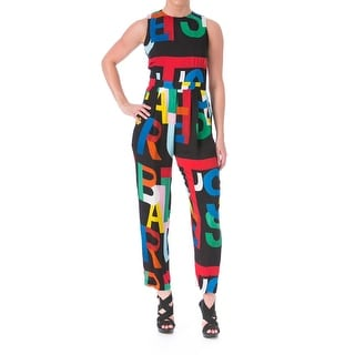 Tata Naka Womens Silk ABC Printed Catsuit