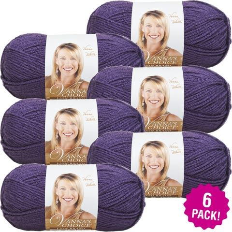 Lion Brand Vanna's Choice Yarn - 6/Pk-Purple - Purple
