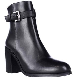 Steve Madden Porshia Block Heel Ankle Boots - Black