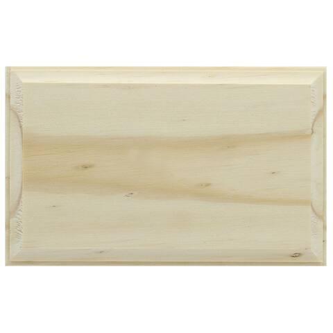 Darice Wood Plaque Unfin Rectangle 3.4x5.4