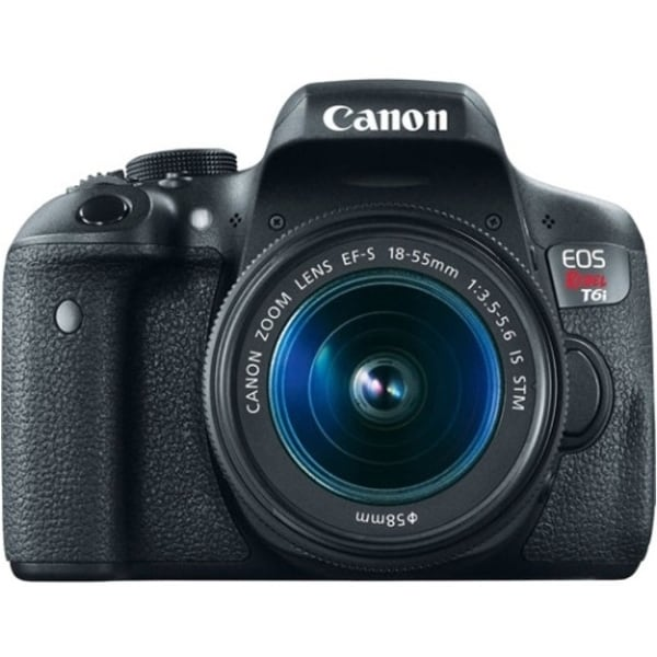 "Canon EOS Rebel T6i 24.2 Megapixel Digital SLR Camera with Lens - 18 mm - 55 mm - 3"" Touchscreen LCD - 16:9 - 3.1x Optical Zoom"