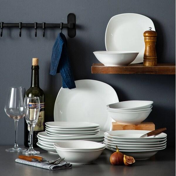 MALACASA Elisa Basic Porcelain Dinnerware Set (Service for 6). Opens flyout.
