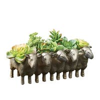 "Sheepy Planter - Indoor Outdoor Succulent Plant Pot - 12"" x 5"" x 7"" - 12 in. x 5 in. x 7 in."