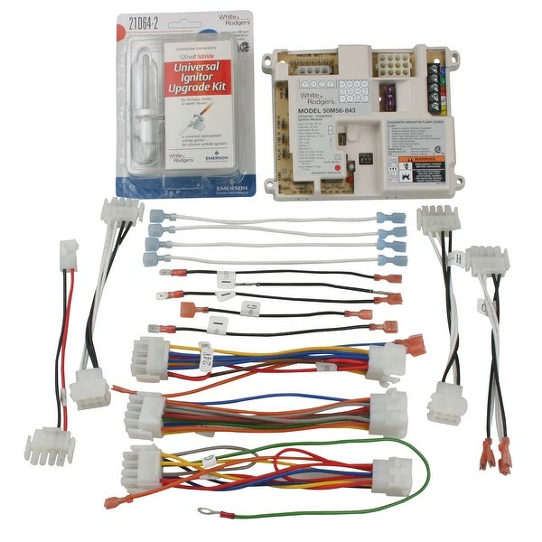 White Rodgers 50M56U 843 Universal Single Stage HSI Integrated Furnace Control Kit