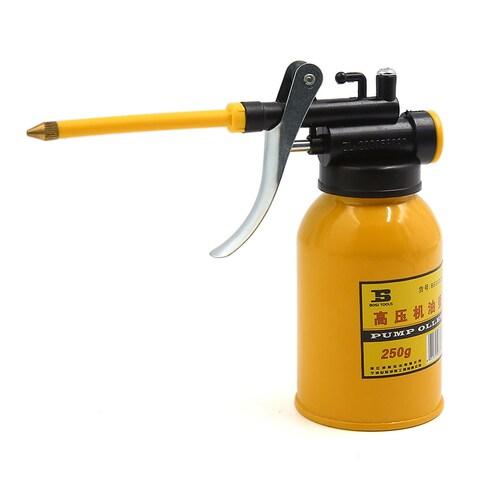 "3.1"" Nozzle 250ML Yellow Metal Bottle High Pressure Oil Spray Gun for Motorcycle"