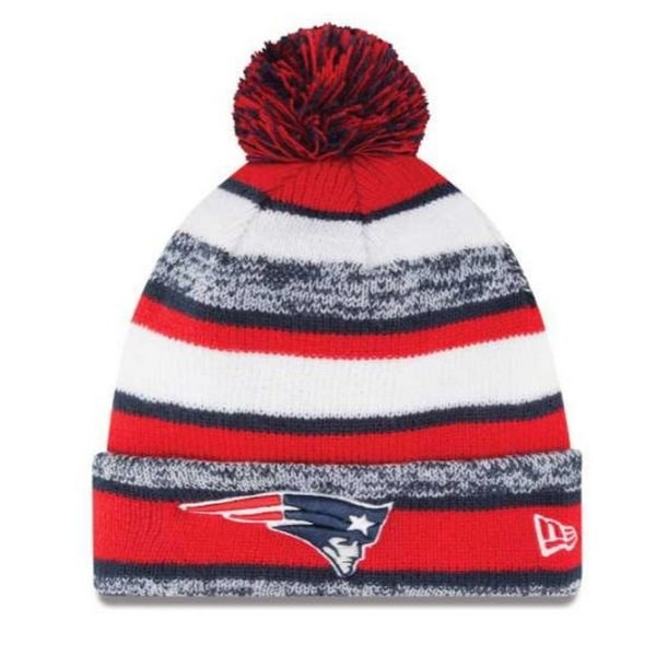 62e496701ae Shop New Era New England Patriots NFL Stocking Knit Hat Winter Beanie w   Pom 11008736 - Free Shipping On Orders Over  45 - Overstock - 19113815