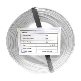 Offex Security and Alarm Wire, White, 22/2 (22AWG 2 Conductor), Stranded, CMR / Inwall Rated, Coil Pack, 500 Feet