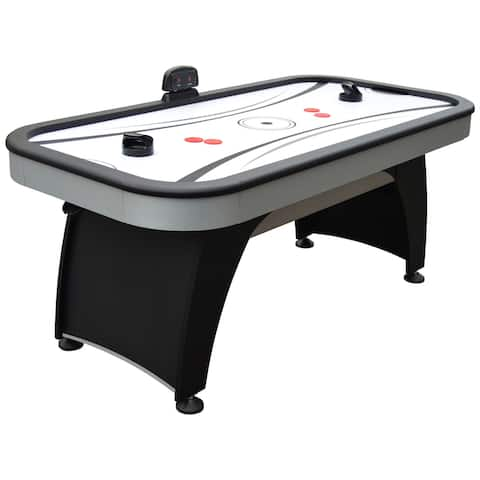 Silverstreak 6-Foot Air Hockey Game Table for Family Game Rooms with Electronic Scoring