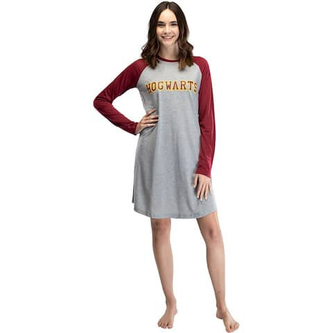 Harry Potter Long Sleeve Hogwarts Raglan Night Gown