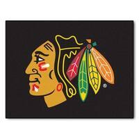 NHL Chicago Blackhawks All Star Non-Skid Mat Rectangular Area Rug