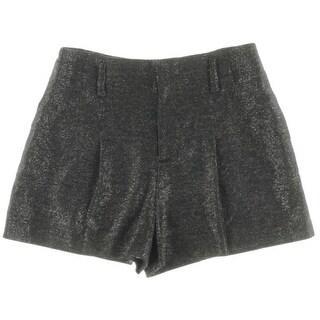 Alice + Olivia Womens Wool Blend Metallic Dress Shorts - 10