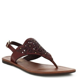 Nomadas Adult Aztec Tan V-Shaped Buckle Closure Flip Flop Sandals