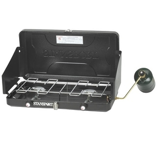 Stansport Two-Burner Regulated Propane stove 203