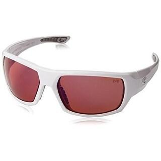 Gargoyles Wrath Sunglasses White Frame/Copper Polarized w/ Blue Mirror Lens
