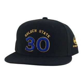 Golden State Stephen Curry #30 Snapback Hat Cap - Black Blue Gold