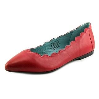 29 Porter Rd Mishka Scalloped Edge Ballet Slipper Women Red Ballet Flats