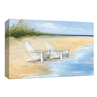 """PTM Images 9-148285  PTM Canvas Collection 8"""" x 10"""" - """"Water View"""" Giclee Beaches and Waves Art Print on Canvas"""