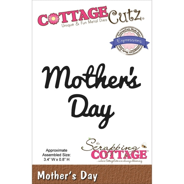 "CottageCutz Expressions Die-Mother's Day 3.4""X.8"""