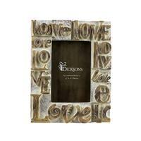 "Dicksons Love Resin Photo 4"" x 6"" Frame"