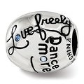 Sterling Silver Reflections Swarovski Elements Crystal Live Laugh Love Talking Bead (4.5mm Diameter Hole) - Thumbnail 0