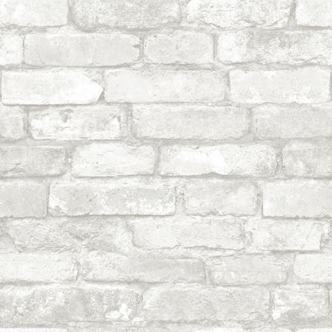 Brewster NU3010 NuWallpaper 30-3/4 Square Foot - Brick - Self-A - Multi-Color