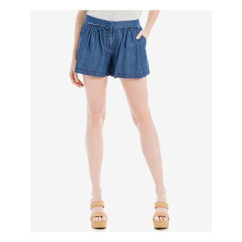 MAX STUDIO Womens Blue Cropped Short Size 6