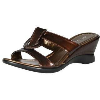 Spring Step Womens Affinity Wedge Sandals Slides