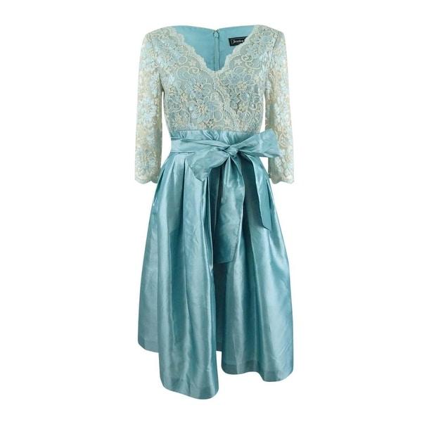 Jessica Howard Women's Lace Taffeta Fit & Flare Dress