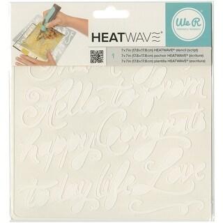 """Heatwave Stencil 7""""X7""""-Script"""