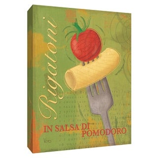 "PTM Images 9-154274  PTM Canvas Collection 10"" x 8"" - ""Rigatoni"" Giclee Pasta Art Print on Canvas"