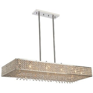 Artcraft Lighting AC10347 Bella Vista 8 Light Crystal Linear Chandelier - 28 Inches Wide - Stainless Steel