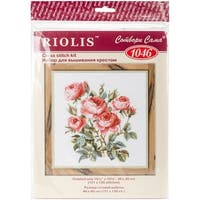 """Garden Roses Counted Cross Stitch Kit-15.75""""X15.75"""" 10 Count"""