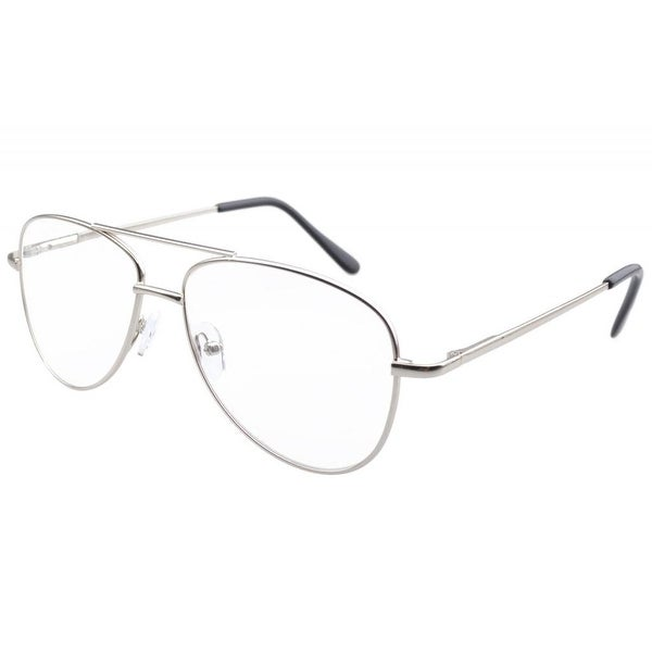 a883354a80 Eyekepper Pilot Style Metal Frame Spring Hinges Reading Glasses Silver +3.5