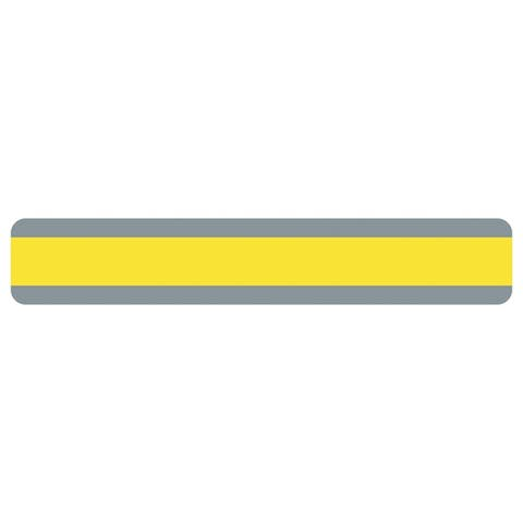 "Double Wide Sentence Strip Reading Guide, 1.25"" x 7.25"", Yellow - One Size"