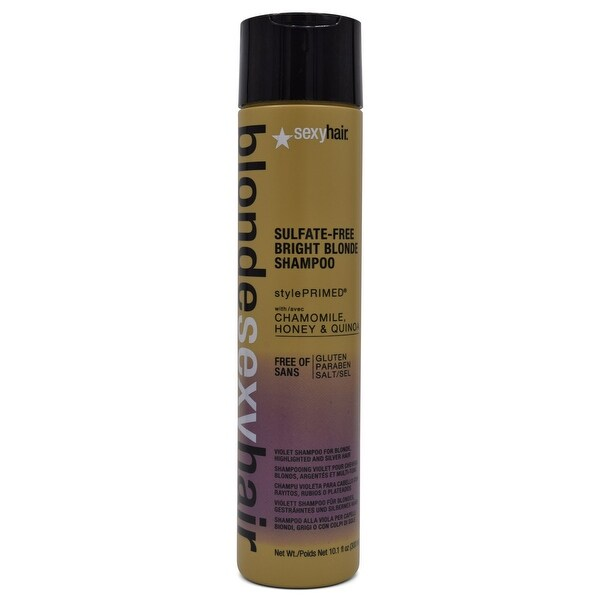 Sexy Hair Blonde Sulfate-Free Bright Violet Shampoo 10.1 Oz