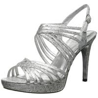Adrianna Papell Womens Aiden Leather Open Toe SlingBack Platform Pumps