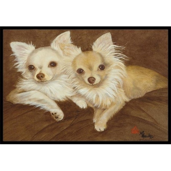 Carolines Treasures MH1042JMAT Chihuahua For The Pair Indoor & Outdoor Mat 24 x 36 in.