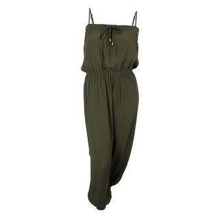 City Chic Women's Plus Size Relaxed Bandeau Jumpsuit (XL, Olive) - olive - 22W